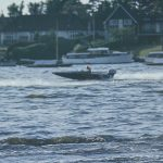 A Speed boat on Oulton Broad