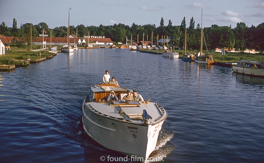 A boat on the Wroxham broad