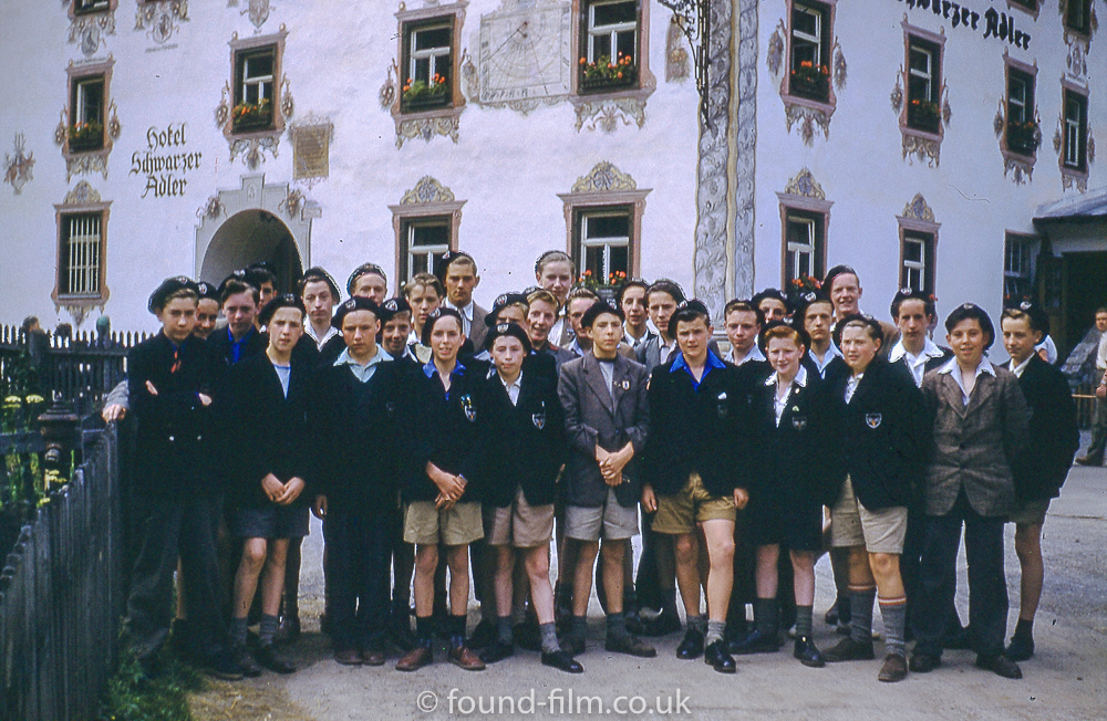 Group of Children outside a Hotel in Austria