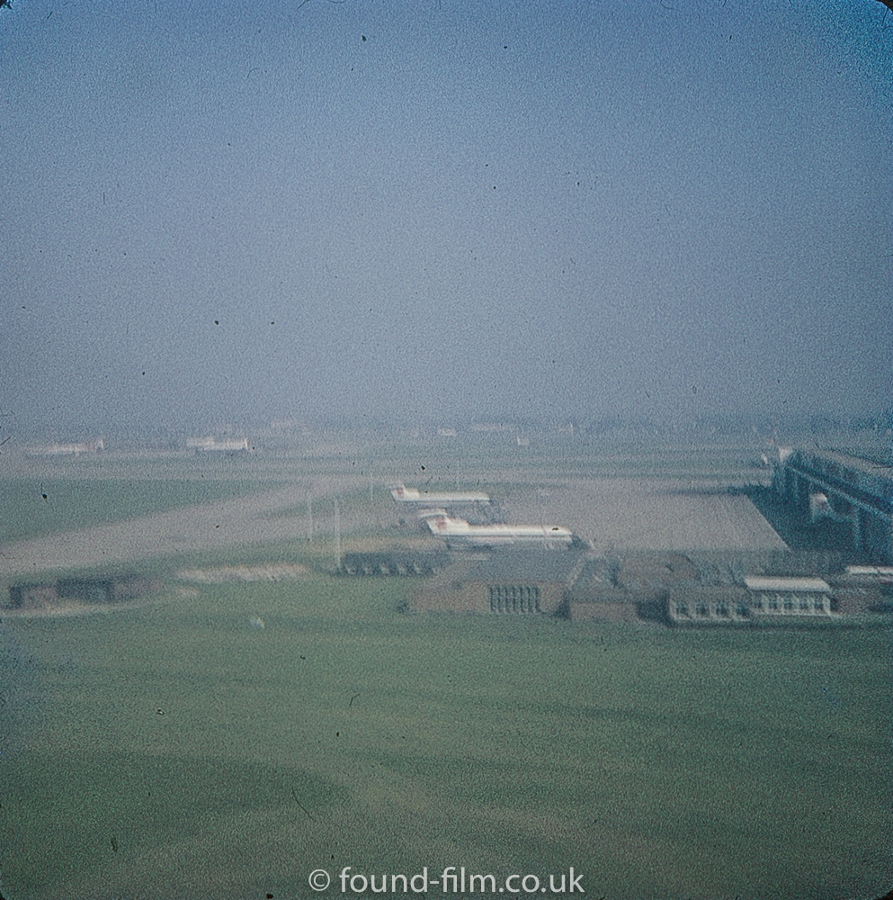 London airport from a Comet