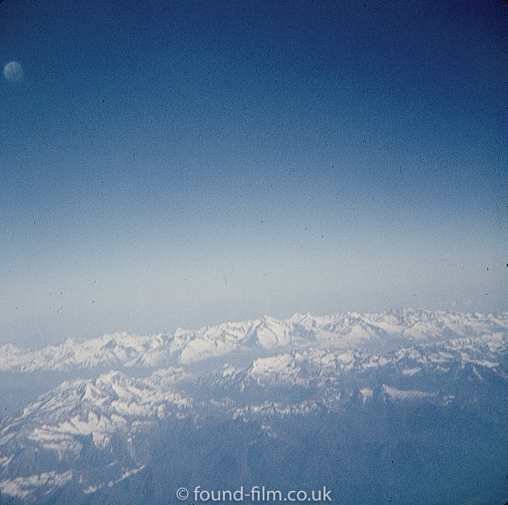 The alps viewed from a comet