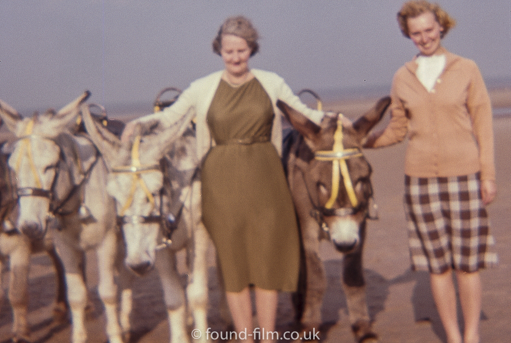 Two ladies with Donkeys