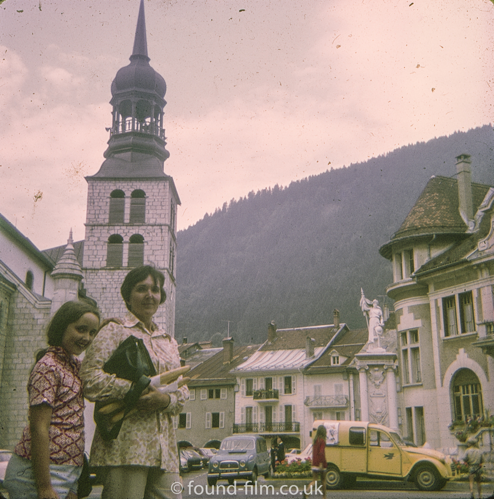 A couple in a french town