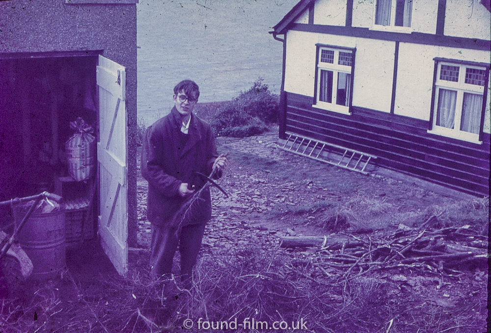 Jim in the garden - 1958