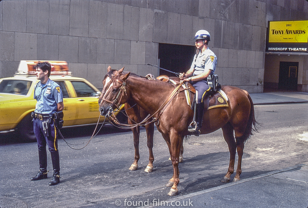 Mounted policeman at the Tony Awards
