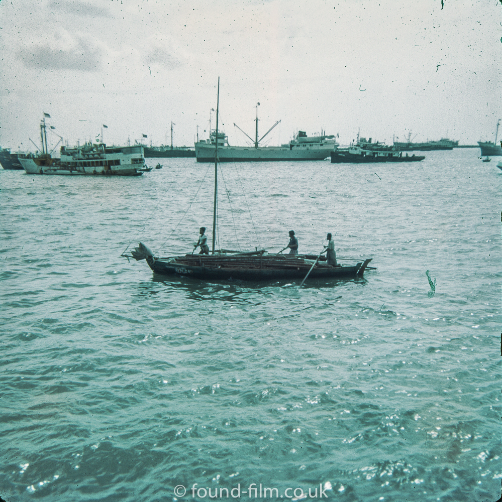 Boat in Singapore harbour