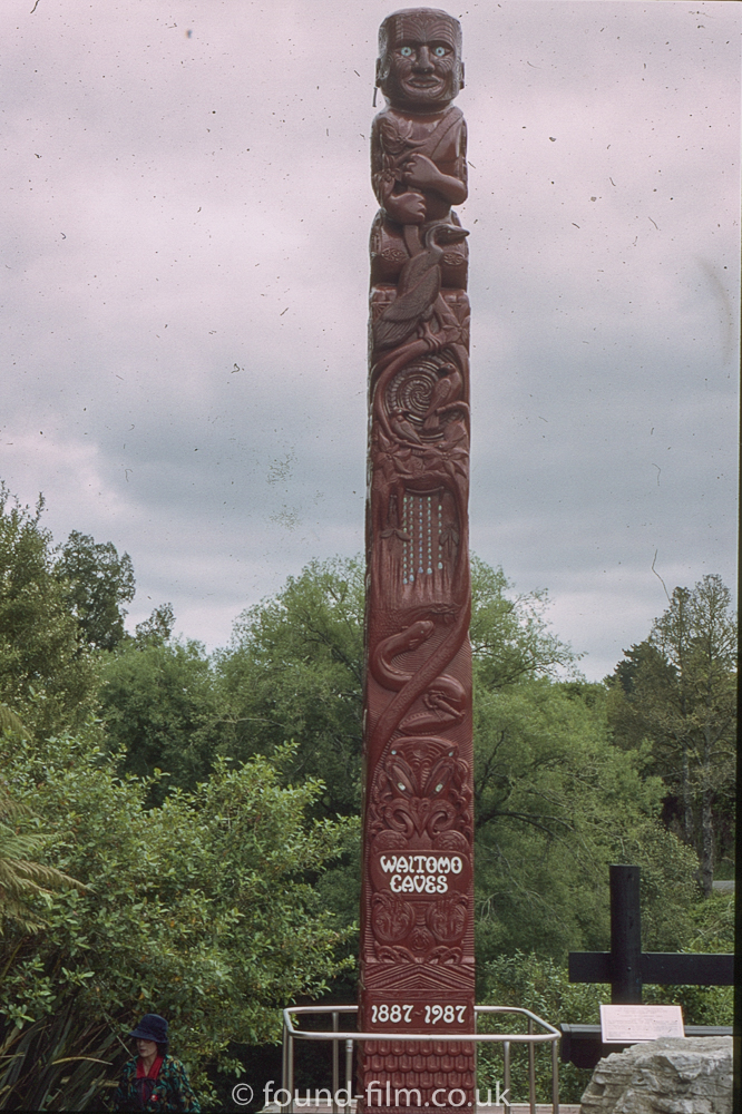 Carved Totem pole - Waitomo caves