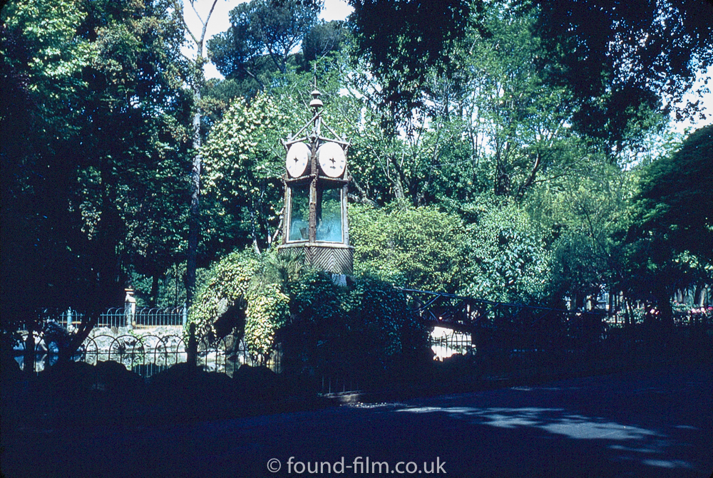 Old water clock villa borghese Rome