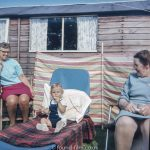 Two grannies with a grandchild in the early 1960s