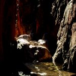 Rock pools in a cave or pass