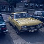 Yellow ford capri