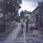 Two boys in a street