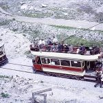 Open top tram at the Crich Tramway museum – June 1965