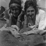 Two young women on a beach in the mid 1920s