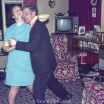 Dancing the night away in a 1970s interior