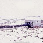 NAFFI Lorry parked on the road in snowy conditions