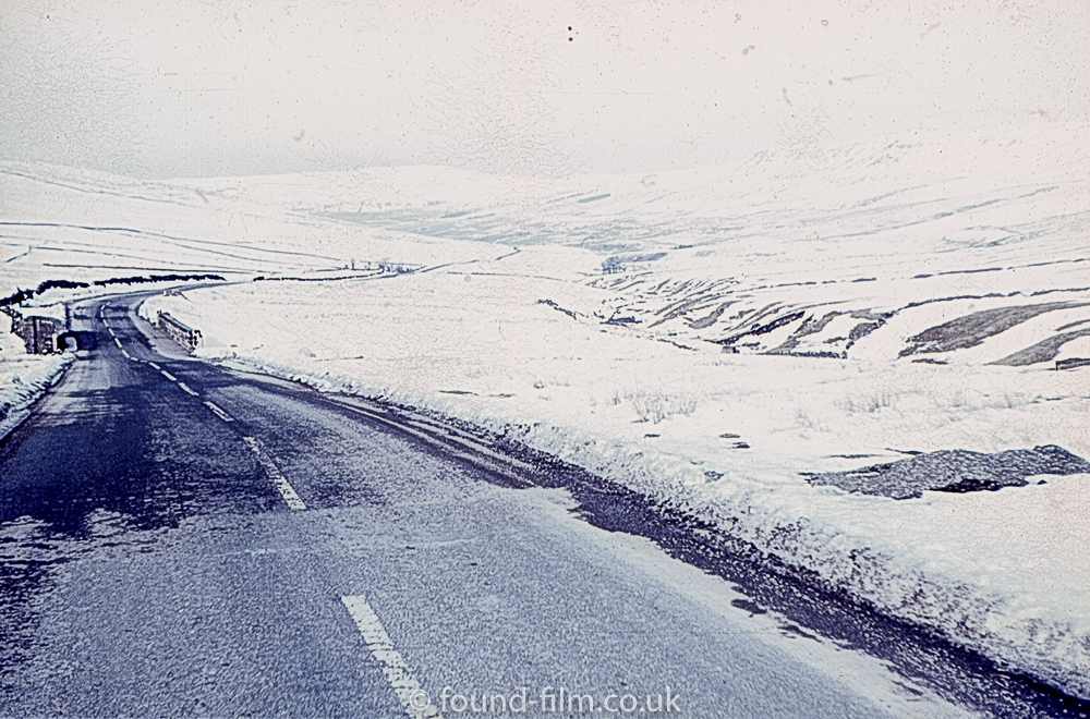 Road in snowy countryside