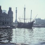 Sail boat in harbour – August 1975