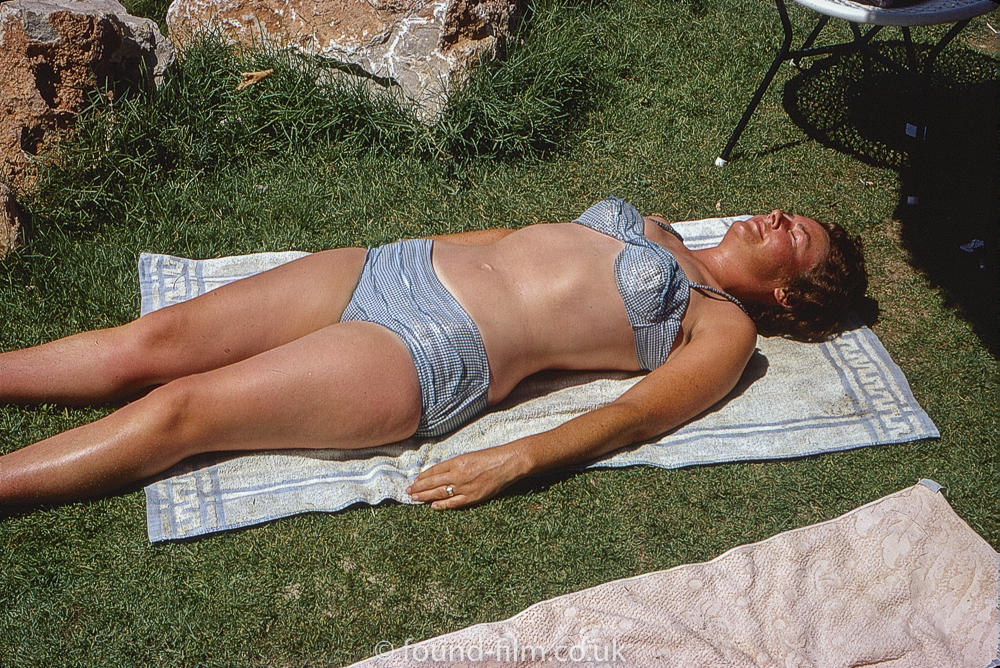 Sunbathing woman
