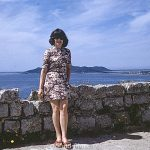 Seaside portrait of woman with dark hair – May 1973