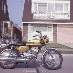Suzuki 350 motorbike in August 1972