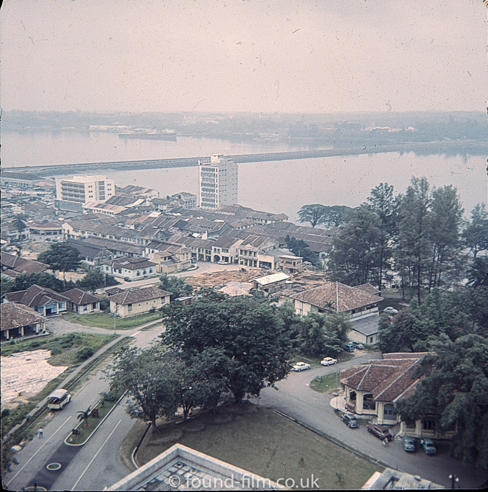Arial view looking over Singapore