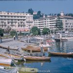 Boats and Hotels at Lugano, Switzerland c1961