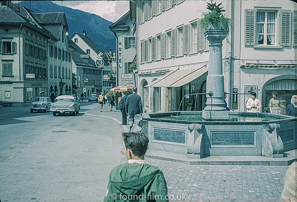 View from the William Tell Statue in Switzerland c1961