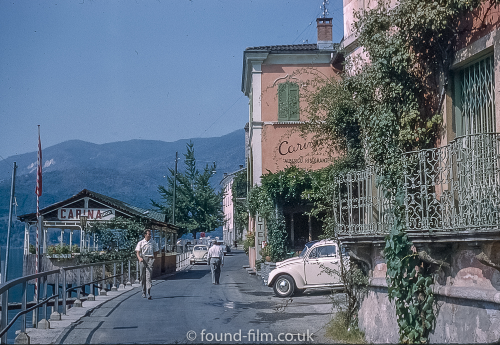 The Hotel Carina at Morcote in Switzerland c1961
