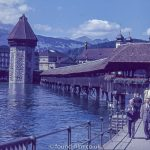 The Kapellbrucke bridge in Lucern c1960