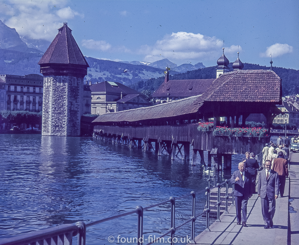 The Kapellbrucke bridge in Lucerne c1960