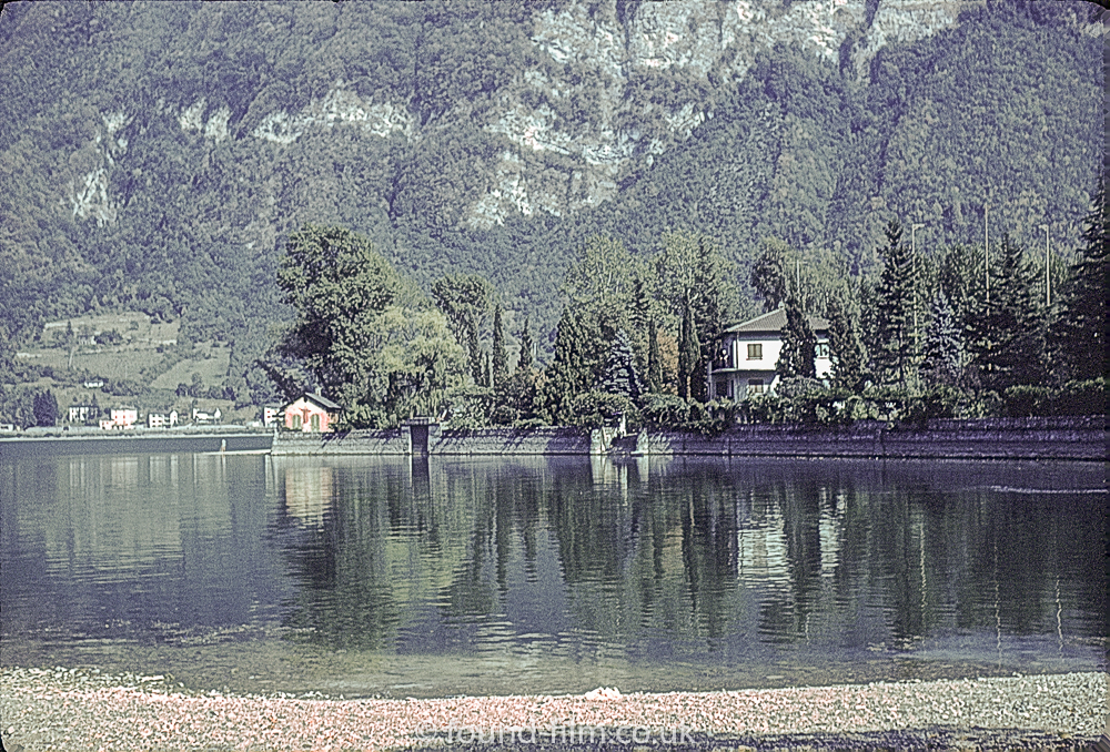 Lake Lugano in Switzerland – early 1960s