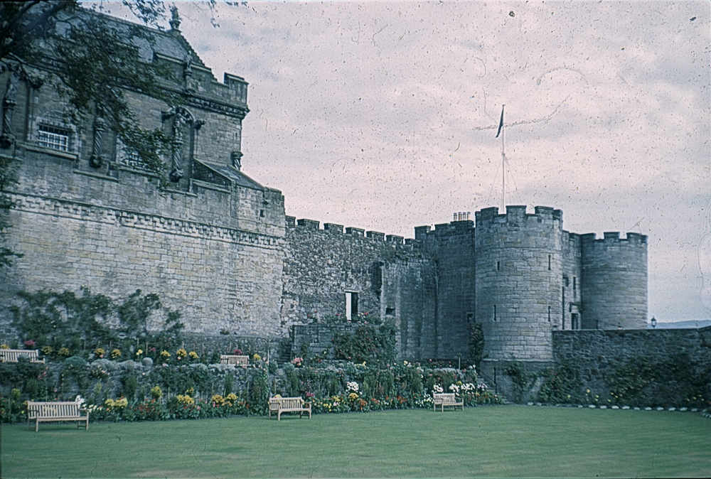 Stirling Castle gardens 1967