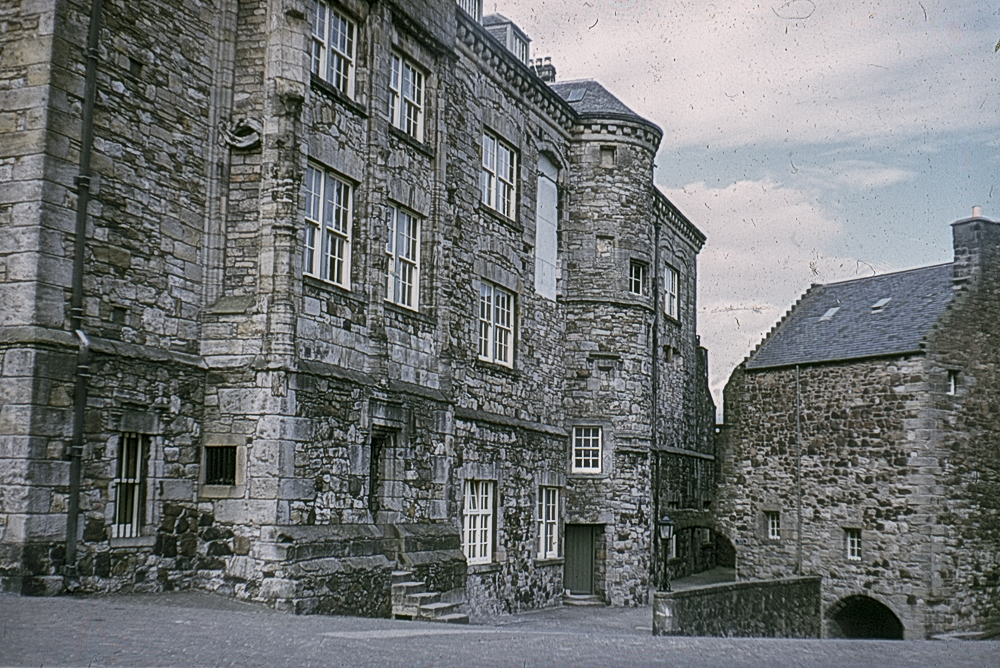 The courtyard at Stirling Castle in about 1967
