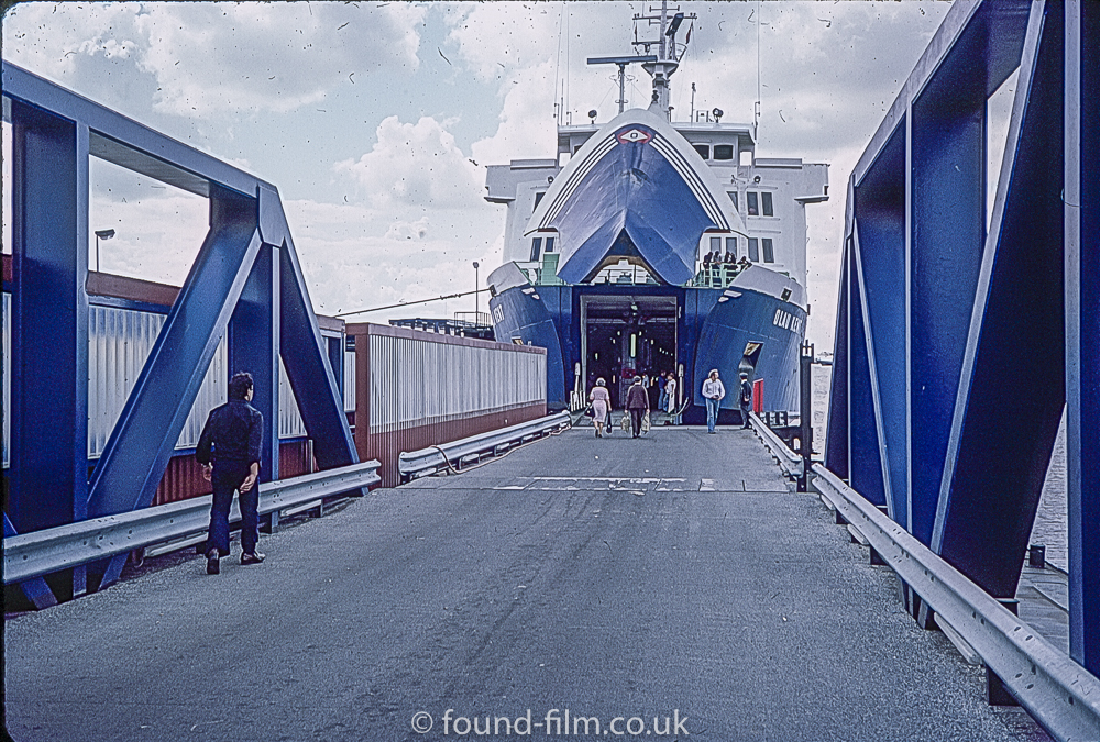 Olau Kent Ferry boarding Oct 1976