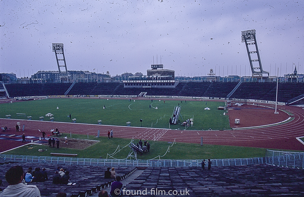 The Ferenc Puskas Stadium Budapest in the 1960s
