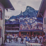 Church and theatre in Oberammergau in the early 1960s