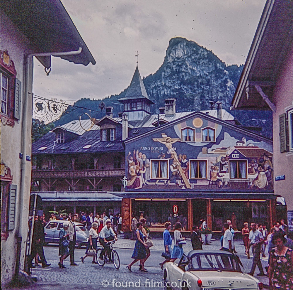 Pfarrkirche church in Oberammergau in the early 1960s