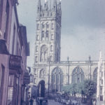 St Mary's Church Warwick from Church street in about 1950
