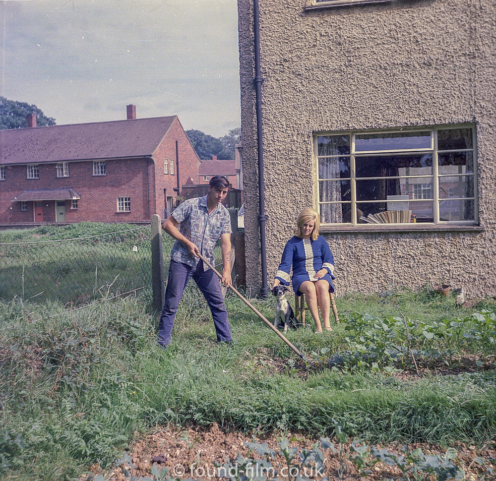 Gardening in our new homeMedium format negatives -