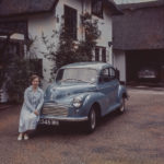 Morris Minor and Owner in the 1950s