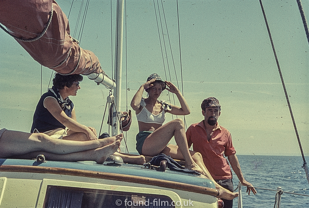 Perutz slide film - girl on a sailing boat