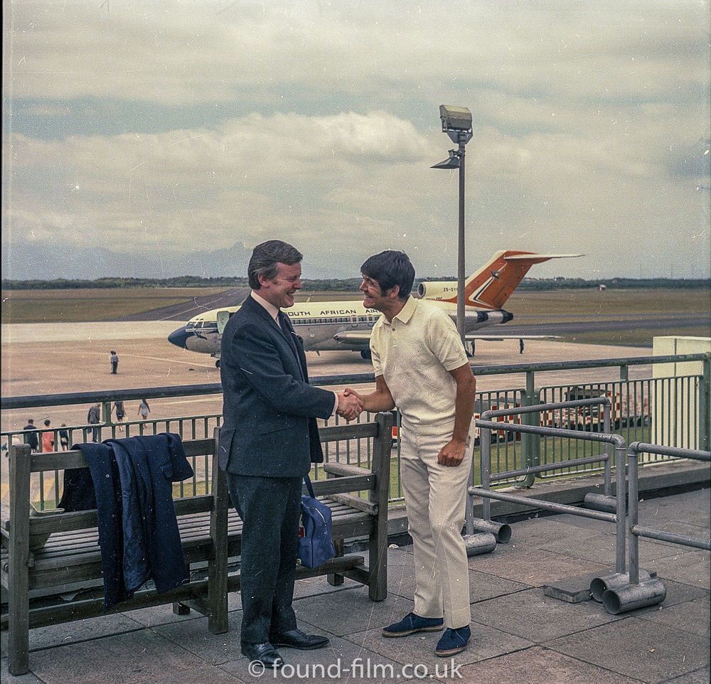Medium format negatives - Publicity shot at airport