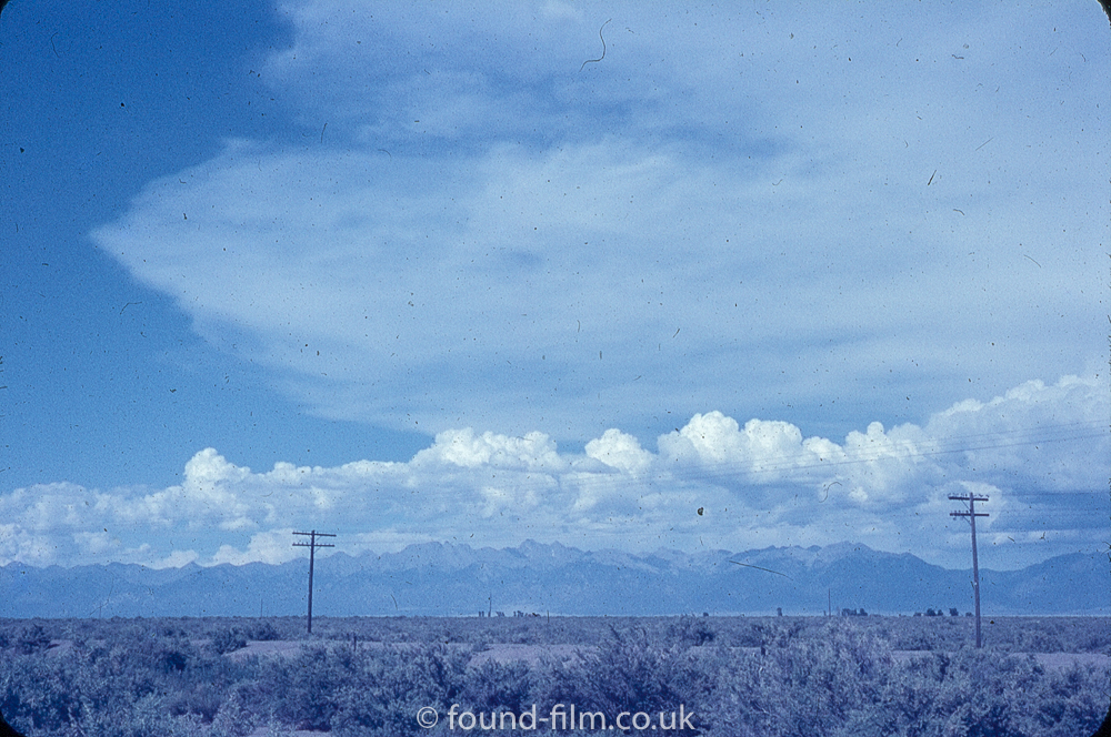 Anscochrome Film - Telegraph poles in the desert