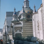 Pictures of Spain from 1955 - Church and Street in Lloret Spain, Sept 1955