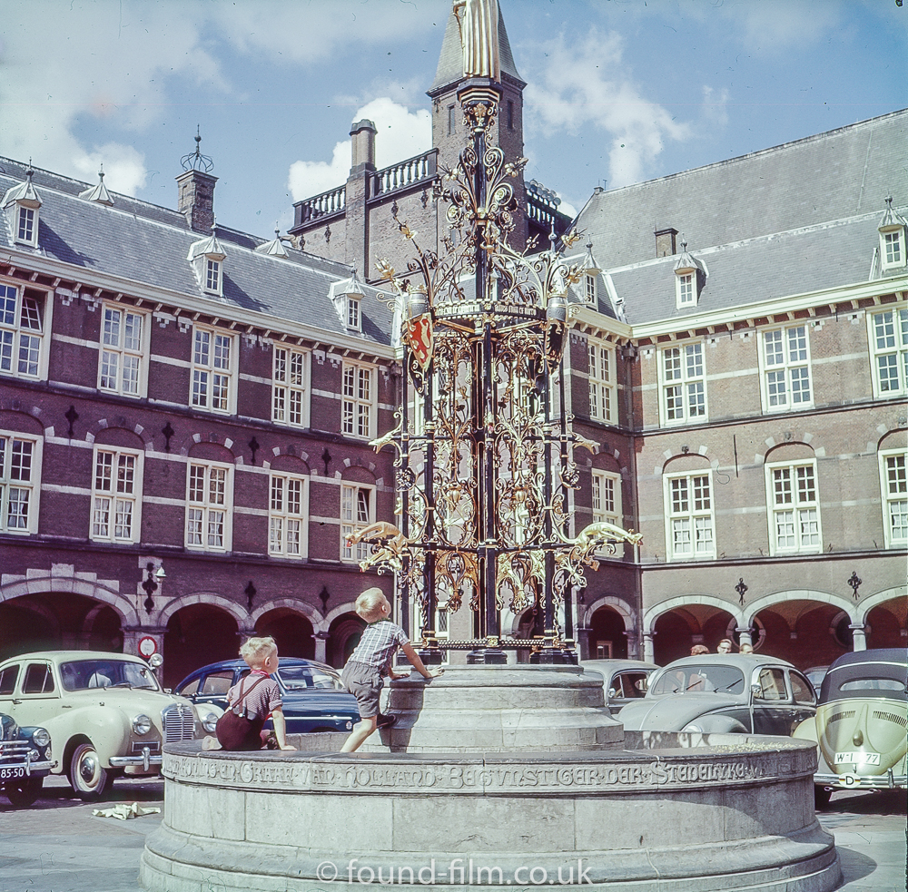 Fountain in Binnenhof, the Hague - 1957