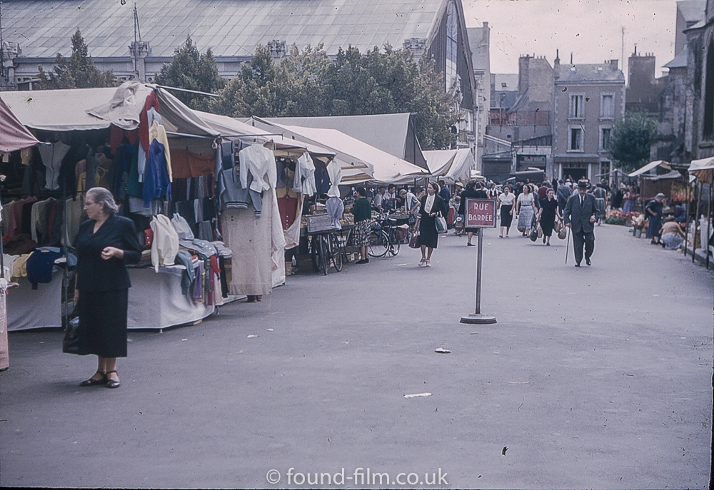 Pictures of Spain from 1955 - Poitiers Market, Sept 1955