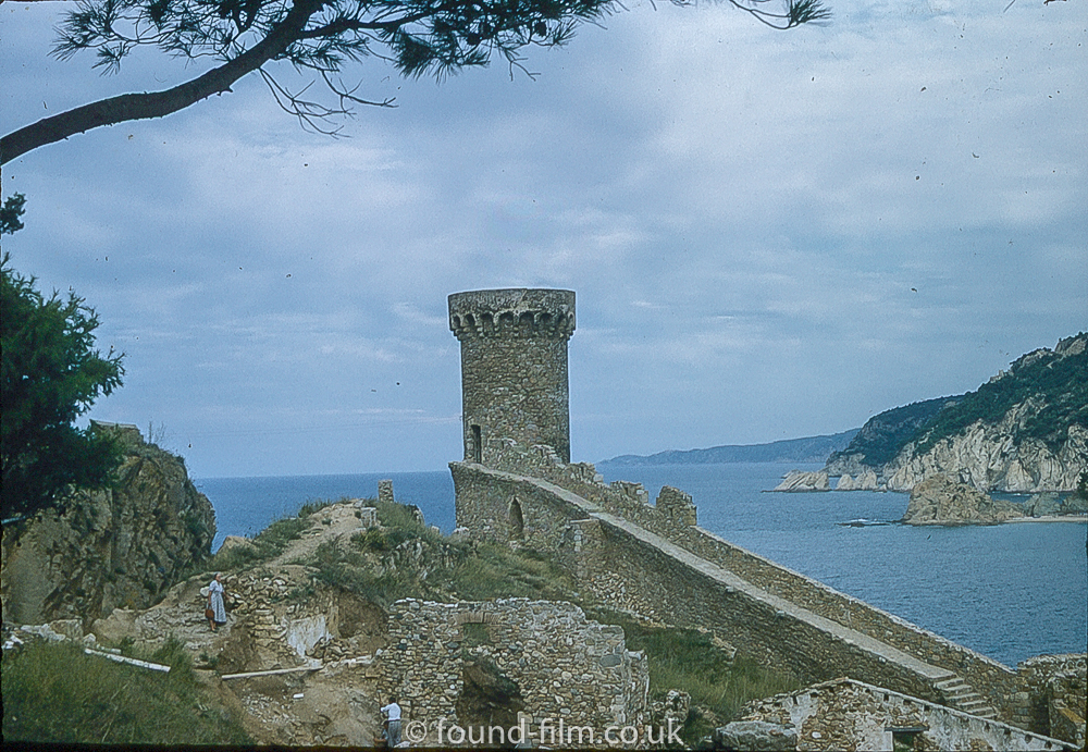 Pictures of Spain from 1955 - Tossa De Mar Castle Spain, Sept 1955