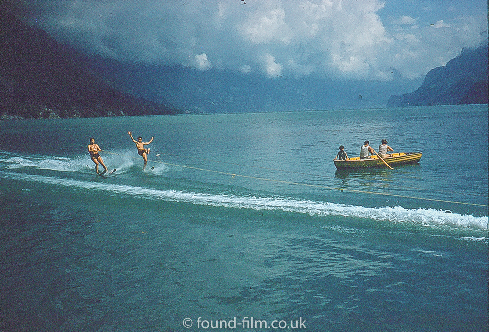 Waterskiing on a Swiss Lake