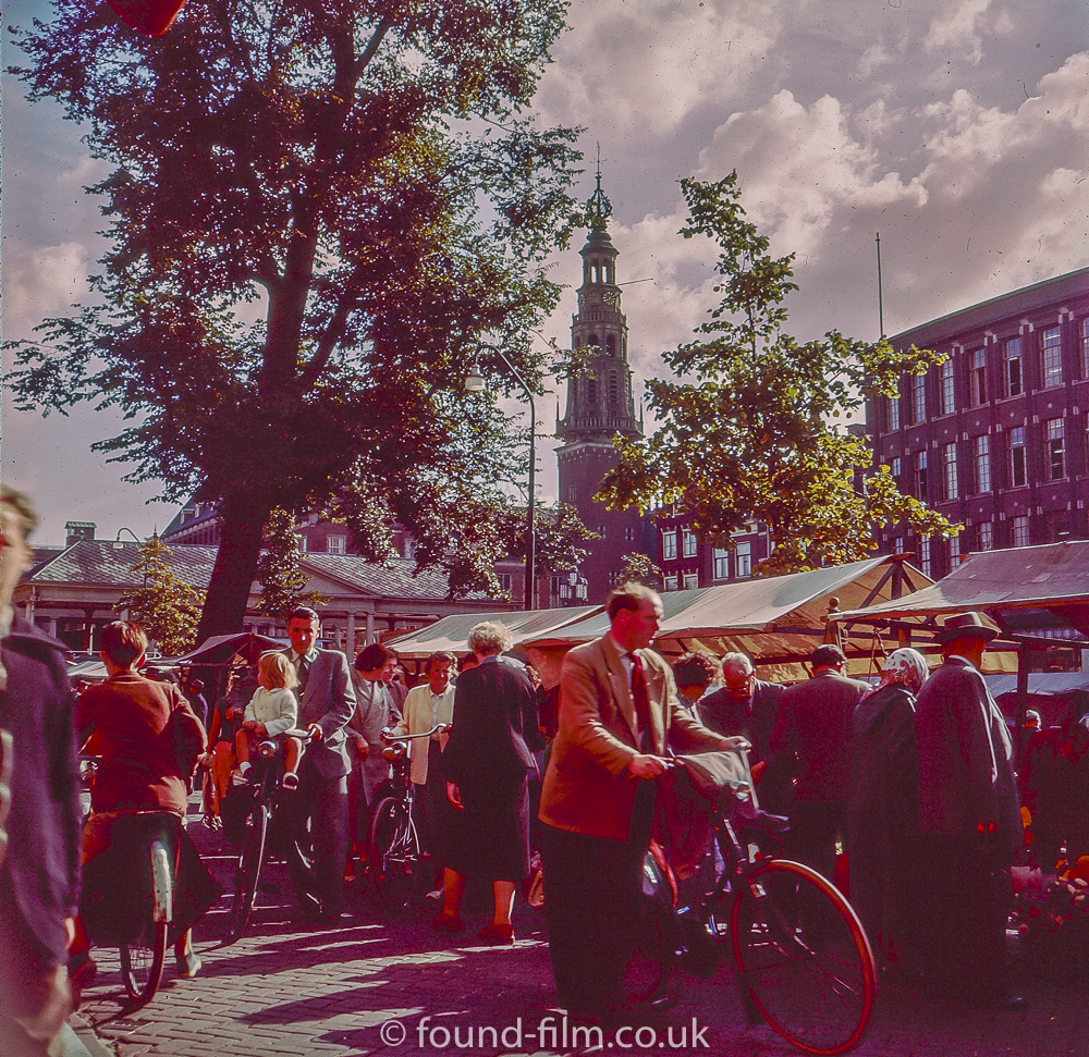 Leiden Market in Holland - 1957